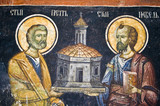 Orthodox church wall painting