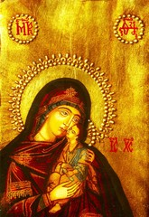 Icon of Mary and baby Jesus