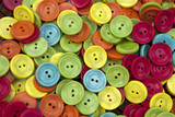 Wooden and polyester buttons poster