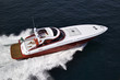 Italy, Azzurra luxury yacht, aerial view
