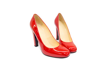 Red female shoes-7