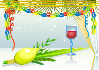 Happy Sukkot with glass of wine