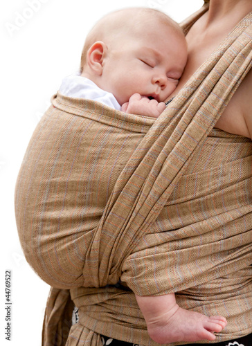 Best deep sleep. Newborn baby sleeping in sling