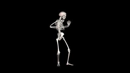 Skeleton Disco Dancing - White + Alpha  CGI