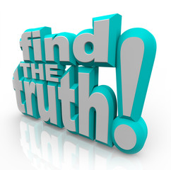 Find the Truth 3D Words Seek Honest Answers