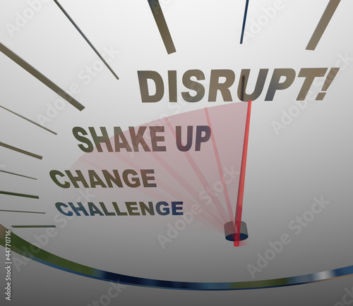 Disrupt Speedometer New Idea Paradigm Shift