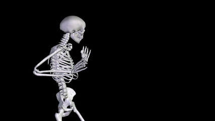 Skeleton Disco Dancing - Zoom Out + Alpha  CGI