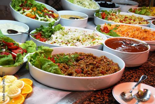 In de dag Buffet, Bar Various food in buffet