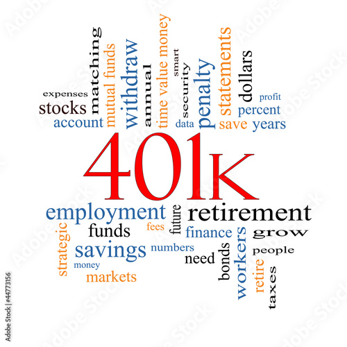 401k Word Cloud Concept