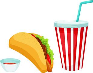 taco set vector illustration