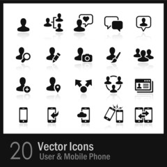 20 User & Mobile Phone  Icons