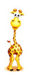 Whimsical Cute Cartoon Giraffe Boy