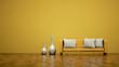 Wohndesign - gelbes Sofa