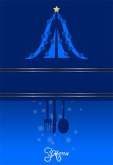 Menu Natalizio blu