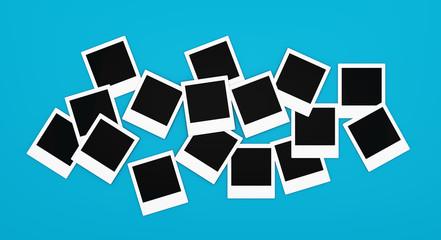 Polaroidrahmen liegend für Ihre Bilder