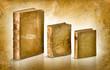 libri antichi su sfondo antico pergamena