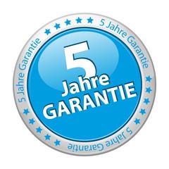 5-Jahre Garantie Button