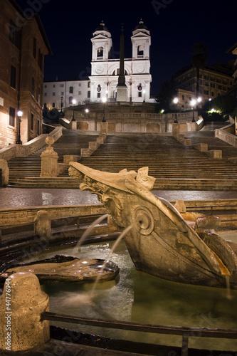 Trinità dei Monti and Piazza di Spagna.