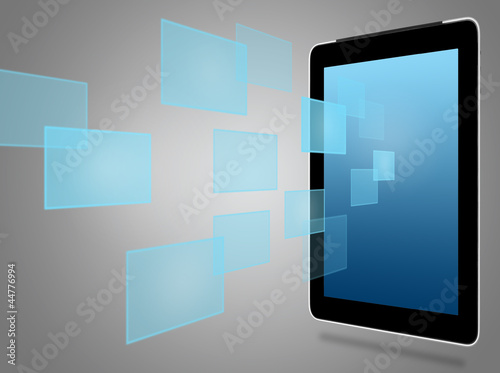 tablet computer and virtual icons