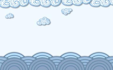 sea and ocean , vector illustration