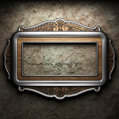 Antique ornament frame