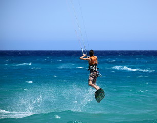 saut en kite surf