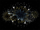 fireworks vector background