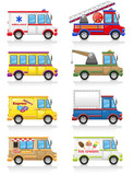 car icon set vector illustration