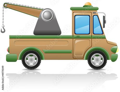 car tow vector illustration