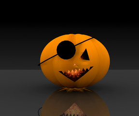 Pumpkin pirate Halloween - 3D