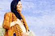 Portrait of beautiful pregnant woman