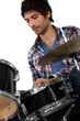 portrait of a man playing drums