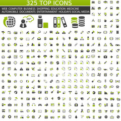 325 top Icons - green