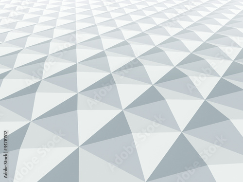 Abstract architecture background. White square pyramidal cellula