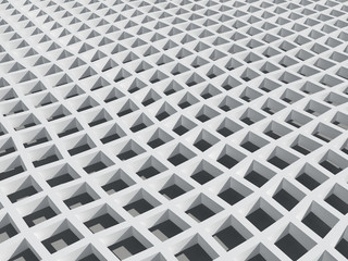 Background with wWhite square cellular bent lattice