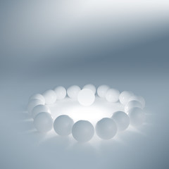 One lighting sphere among simple white