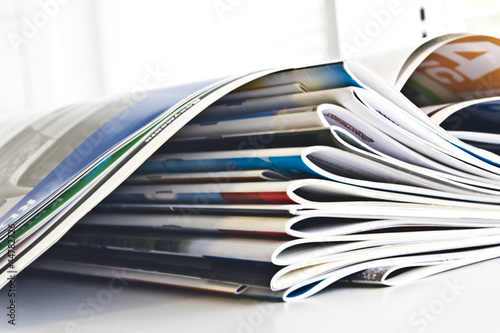 Leinwanddruck Bild Journals catalogs
