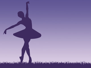 Ballerina - purple illustration
