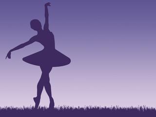Ballerina - purple illustration