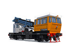 Modern support digger motor-rail car