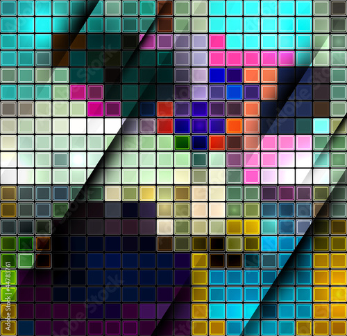 Deurstickers Pixel Colorful abstract mosaic background