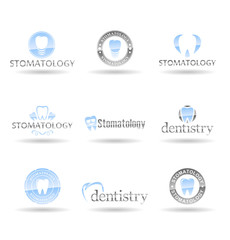 Set of dental icons. Stomatology. Vol 2.