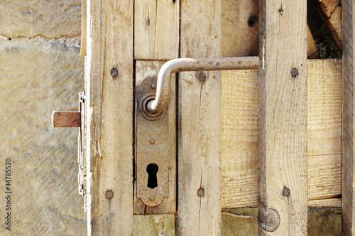 Türklinke einer Holztür
