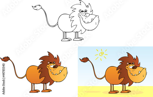 Lion Cartoon Character on Funny Lion Cartoon Mascot Character    Hittoon Com  44785540   Ver