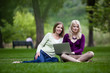 Young Women Using laptop