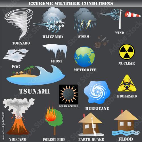 Natural disaster symbols