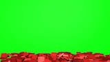 Collapse of the red wall - green screen