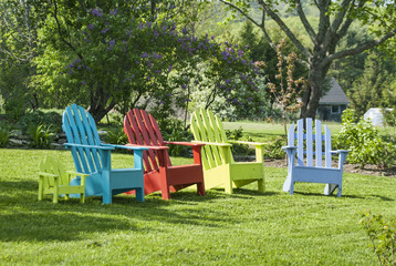 Diverse Group of Adirondack Chairs