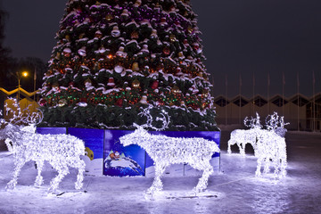 Electric deers on Christmas, Moscow