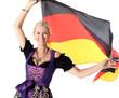Frau mit Deutschlandflagge